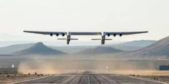 Stratolaunch, primer, vuelo, avión, grande, mundo,