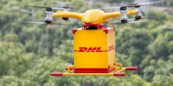 DHL Express, lanza, primer, servicio, entrega, drones, urbanos,