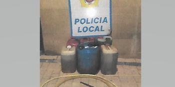 dos, detenidos, robo, gasoil, camiones,