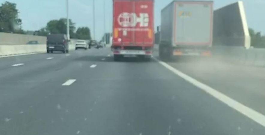 culpa, dos, camioneros, vídeo,