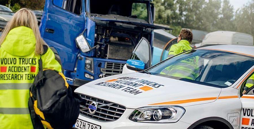 50, años, equipo, investigación, accidentes, Volvo Trucks, fotos,