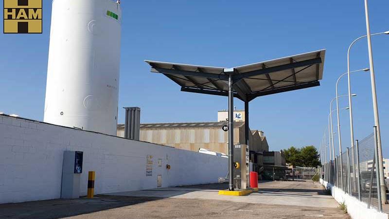 HAM, gasinera, Valencia, repostaje, camiones, empresas, servicios al transporte,