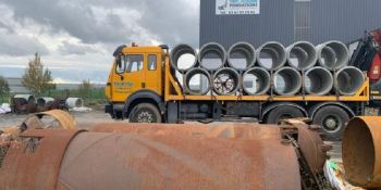 camión, 38 toneladas, hundimiento, puente, Francia,
