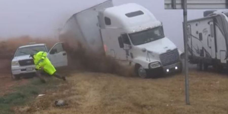 accidente, Estados Unidos, niebla, vídeo,
