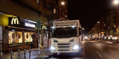 Scania, entregas nocturnas, consumo, contaminación,