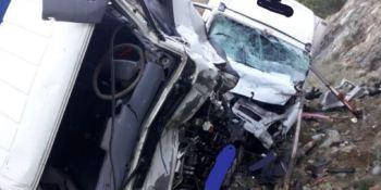 accidente, dos camiones, ronda, heridos,