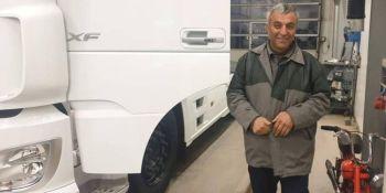 camionero iraní, camión nuevo, ayuda, Polonia,