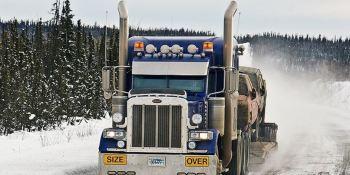 camioneros, carreteras, hielo, peligro, extremo,
