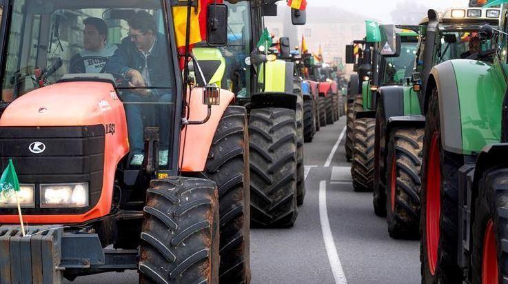 agricultores, cortes carreteras, mañana, protestas,