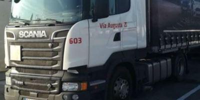 camión, robado, Scania blanco,