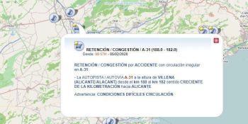 herido, colisión, dos, camiones, A-31, Villena,