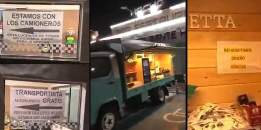 camioneros, no están solo, crisis, coronavirus, restaurantes,
