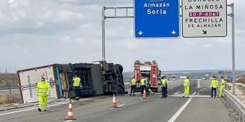 fallece, camionero, salirse, carretera, provincia, Soria