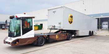 UPS, vehículos, eléctricos, autónomos, Gaussin, mover, semirremolques,