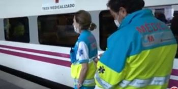 Transportes, dispone, trenes, medicalizados, trasladar, enfermos,