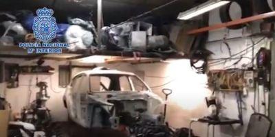 robados, desmantelan, taller, clandestino, desmontaba, vehículos, sustraídos, venta, piezas, vídeo,