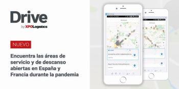 XPO Logistics, incorpora, mapa, puntos, interés, app, Drive XPO