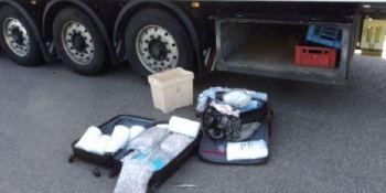 camionero, positivo, drogas, localizan heroína, camión, fotos,