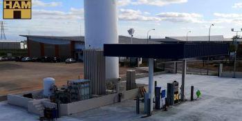Grupo HAM construye la primera estación de carga de GNL en Chile