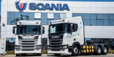 Scania, entrega, primeros, camiones, GNC y Biometano, Brasil,