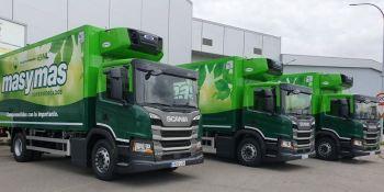 cadena de supermercados, flota, camiones, Scania, GNL,