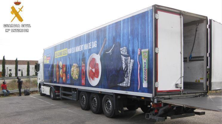 Guardia Civil, detiene, conductro, camión, robado, Bélgica,