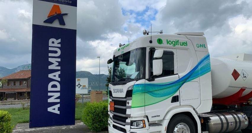 Logifuel proveedor de carburante para Andamur incorpora un Scania a GNL