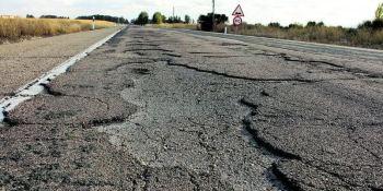 El mal estado de las carreteras en España