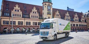 DB Schenker cuenta con Mercedes-Benz eActros para el transporte sin emisiones en Leipzig