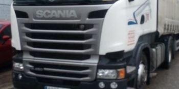 ¡Alerta! camión robado Scania blanco matrícula 8395-JLX