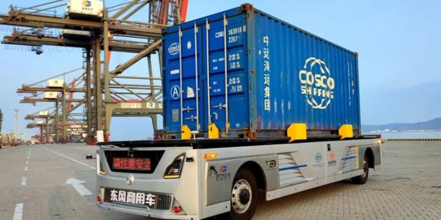 El Puerto de Xiamen ya cuenta con 3 camiones portacontenedores autónomos
