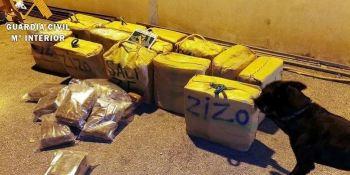 Detenido un camionero tras localizar 452 kg de hachís