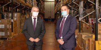 Visita del Lehendakari al centro logístico de Dachser en Amorebieta