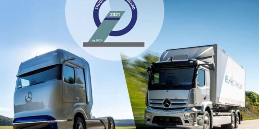 Mercedes-Benz eActros y Mercedes-Benz GenH2 Truck ganan el Truck Innovation Award 2021
