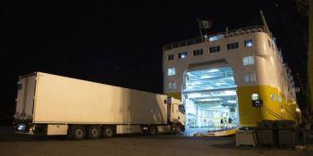 Gran acogida en el primer ferry para camiones que parte del Puerto de Cartagena rumbo a Toulon
