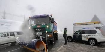 """La tormenta """"Filomena"""" afecta a 275 carreteras con prohibiciones para camiones"""