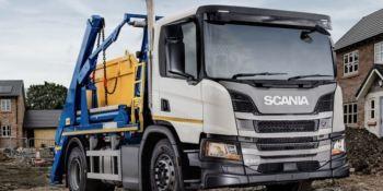 Scania presenta el nuevo Skiploader carrozado por Hyva en Reino Unido