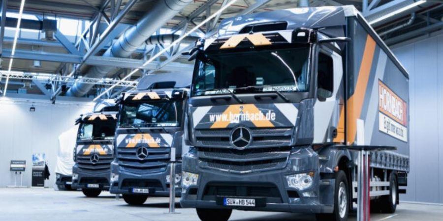 34 nuevos camiones Mercedes-Benz Actros para la flota logística de Hornbach