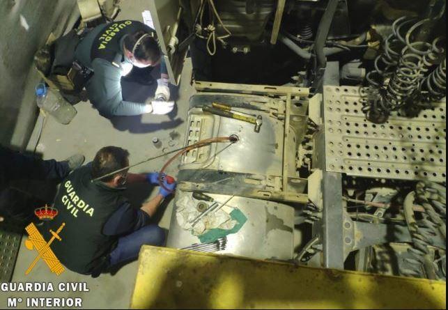 Intervenidos 13.000 litros de gasoil bonificado empleado en vehículos con depósitos modificados