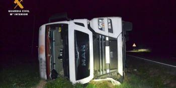 Detenido un camionero tras sufrir un accidente y sextuplicar la tasa de alcohol