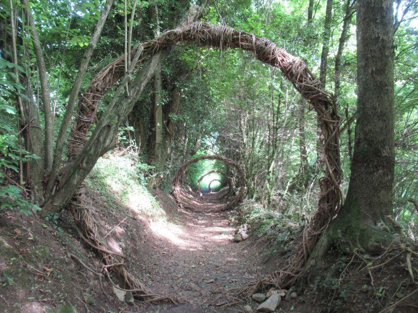 Cammino nei cerchi lungo il sentiero dei Sarvanot