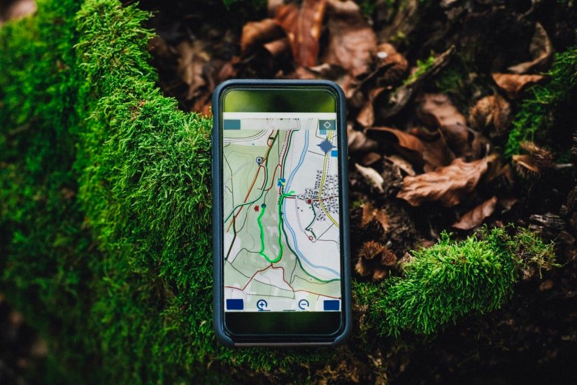 anche la mappa sul cellulare può fornire utili informazioni durante l'escursione