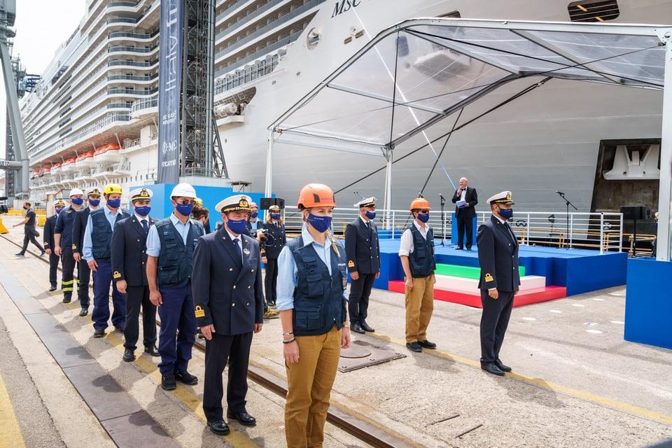 msc seashore nuova ammiraglia della flotta MSC Crociere. Cerimonia di consegna