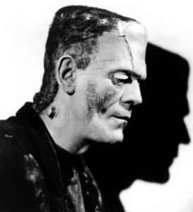 Boris Karloff, caracterizado para La novia de Frankenstein_528x581