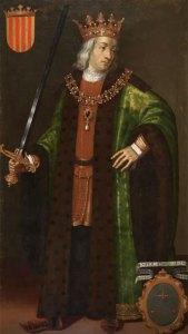 El rey Jaime II de Aragón retratado por Filippo Ariosto
