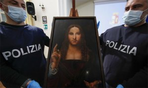 Encuentran en Nápoles la pintura 'Salvator Mundi' de la escuela de Da Vinci robada hace dos años