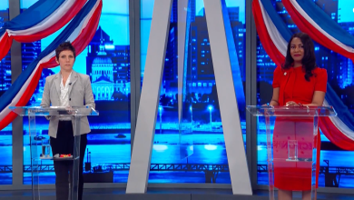 Tishaura Jones y Cara Spencer celebraron un debate antes de las elecciones para Alcalde el próximo 6 de Abril, 2021. (Fox2 Screenshot)