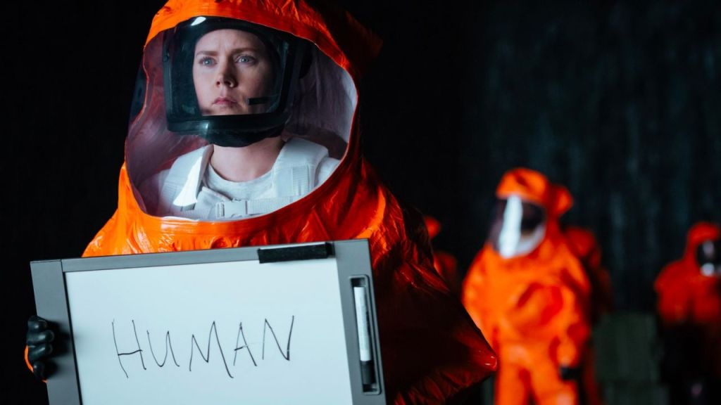 Arrival, Amy Adams sul set