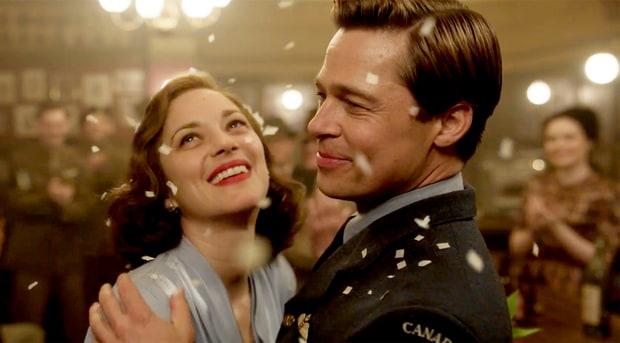 Allied, Marion Cotillard e Brad Pitt sul set