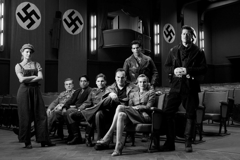 Inglourious Basterds, Quentin Tarantino e parte del cast